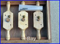 091115 Pc Wood Thread Die Box & Tap SetAMT & Conover1/2 to 1 1/2with Case