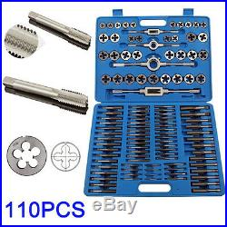 110 PCS Tap and Die Combination Set Tungsten Steel Case Kit Metric