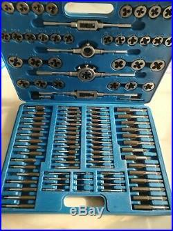 110 PCS Tap and Die Combination Set Tungsten Steel METRIC Screw Kit