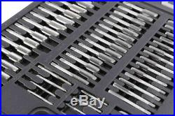 110 PCS Tap and Die Combination Set Tungsten Steel METRIC Wrench Screw GOOD