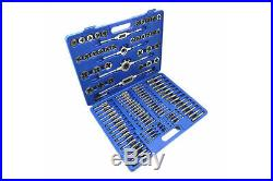 110pcs Tap and Die Set Screw Thread Metric Wrench Taper Wrench Handle Hand Tools