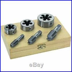 1 Set Pipe Taps Of 6 Piece & Die 1/4 3/8 1/2 STEEL TAP DIE TOOL THREADER