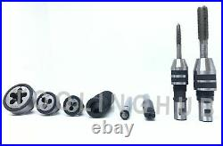 2MT Lathe Tailstock Tap And Die Holder set Sliding Floating Type MT2 Shank INCH