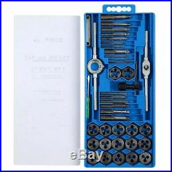 40PC Professional Metric tap wrench and die set cuts M3-M12 bolts + storage case
