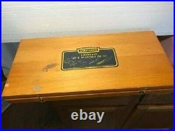 40 PIECE CRAFTSMAN KROMEDGE TAP & DIE SET WOODEN BOX 36pc UNUSED CAT. NO. 9-5212