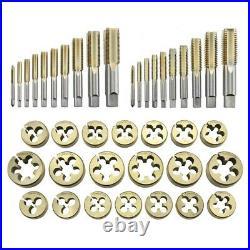 45pc Tap & Die Set SAE Tungsten Steel Large Titanium Tools Metal Threader