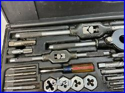 59pc Classic Craftsman KromEdge LARGE SAE SIZES Tap & Die Set 4-40 to 3/4-16 USA