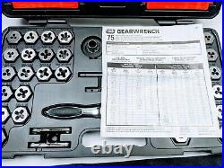 75 Pcs. GearWrench SAE/Metric Large Ratcheting Tap & Die Drive Tool Set