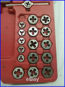 76 Piece Mac Tools Tap And Die Set In Case Missing 1 Piece Used In Good Shape