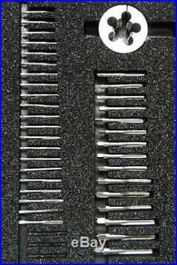 80 piece Greenfield Tap & Die U. S. Screw Threading Set #4 Type 1 NC & NS