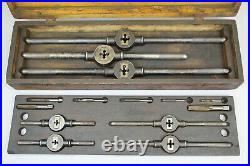 Antique 1885 Little Giant Tap & Die Wells Brothers Greenfield Mass Big Set Case