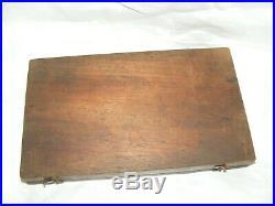 Antique Vintage Warrior Brand Tap & Die Set In Original Wooden Box Decal