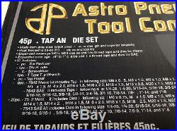 Astro Pneumatic Tool Company #7542 Metric 45 Piece Tap & Die Set