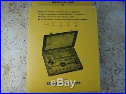 BERGEON 30322 Tap & Die Set Watch Clock Repair Tool
