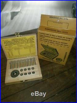 Bergeon 2776 Set of Watchmakers Dies and Taps Watch Tap and Die 100% Complete