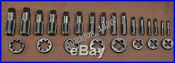 British Standard Pipe Tap & Die Set 1/8 To 1 Bsp Bspp High Carbon Steel Bsp