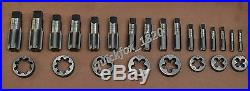 British Standard Pipe Tap & Die Set 1/8 To 1 Bsp Bspp Tap Die Set Carbon Stl