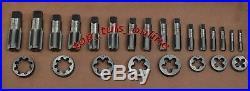 Bsp Tap & Die Set 1/8 To 1 English Thread High Carbon Steel