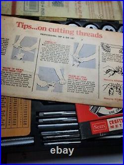 CRAFTSMAN KROMEDGE 41pc Tap & Die Set 9 5471 Made in USA -Vintage 1970's sae set