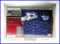 Craftsman 39 Piece METRIC Tap and Die Set 52383 Made in USA Brand New
