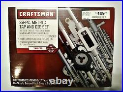 Craftsman 39 pc. Metric Tap and Die Set 52383 New in Box