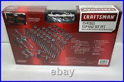 Craftsman 75-Piece Metric & Standard Tap & Die Set Carbon Steel withCarrying Case