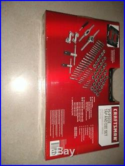 Craftsman 75 Piece Tap & Die Carbon Steel Set Case SAE Metric Inch 52377 New