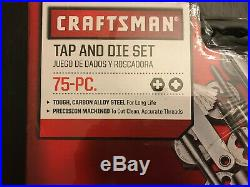 Craftsman 75 Piece Tap & Die Carbon Steel Set Combo with Case SAE and Metric NEW
