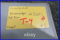 Craftsman Kromedge 5201 NF NC Tap & Hexagon Die Set Automotive Sae Tool USA