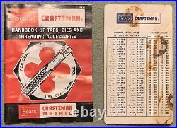 Craftsman Made USA 76 Pieces Tap & Hex Die Set SAE & Metric #52377 FREE SHIPPING