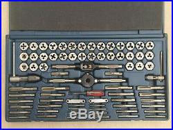 Craftsman Tap & Hex Die Set Standard and Metric Thread 52377 Made in USA SAE MM