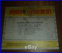 Dormer Tap and Die Set. 0Ba To 10BA In Case BA