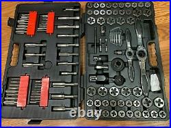 GEARWRENCH Large SAE/Metric Ratcheting Tap Die Set 114-Piece 82812 open box