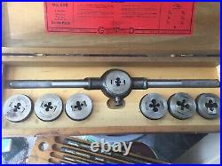 GREENFIELD LITTLE GIANT NO. 105 TAP AND DIE SET WithWOOD CASE