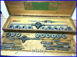 GREENFIELD LITTLE GIANT NO. 312 TAP AND DIE SET in WOOD CASE