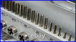 GSR M3-M12 32 piece Tap & Die set, High speed steel