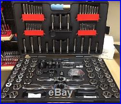 SAE//Metric 82812 Ratcheting Tap and Die Set GEARWRENCH 114 Pc