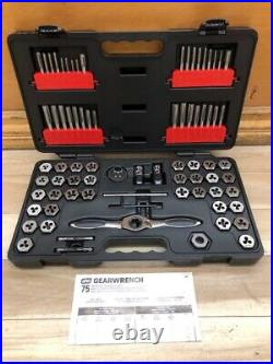 GearWrench 3887 Ratcheting Tap Die Drive Tool Set SAE Metric Units 75PC