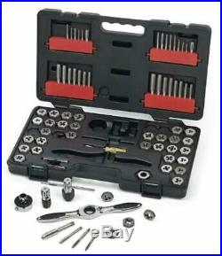 GearWrench 75PC 3887 Ratcheting Tap and Die Drive Tool Set SAE/Metric UNITS