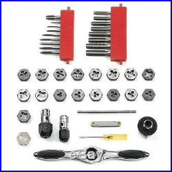 GearWrench Ratcheting Tap Die Ratcheting T Wrench Set 40 Piece SAE Tool Case Kit