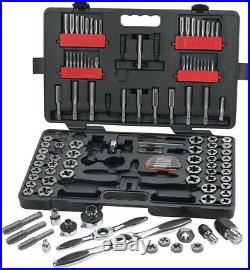 GearWrench Ratcheting Tap Die Set Auto-Locking Reversible Lever (114-Piece)