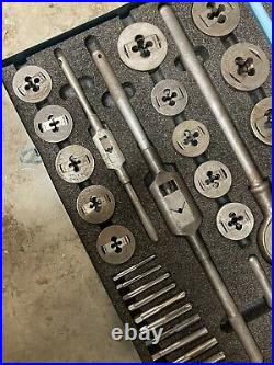 Greenfield GTD Tap & Die Little Giant Set #312 1/4-1 Large Machinist Tool Kit