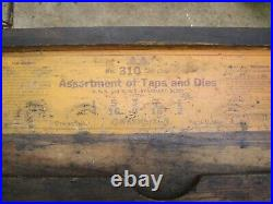 Greenfield Little Giant Screw Plate Tap & Die Set No. 310 with original wood box