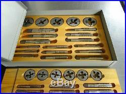 Greenfield NC Tap and Die set. Vintage 80 piece set. Looks unused. Very nice set