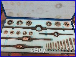 Greenfield U. S. Screw Threading Set Piece Tap and Die Set Morse Tap & Die