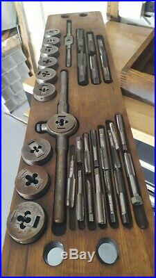 Greenfield little giant No. 312 tap and die set in wooden box