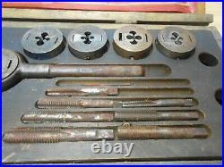 HUGE GTD Greenfield 315 Little Giant Screw Plate Tap & Die Set Wood Case