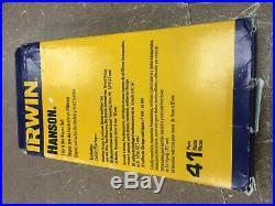 Hanson Machine Screw Fractional Metric Tap & Hex Die 41 Pc Set Irwin 26319