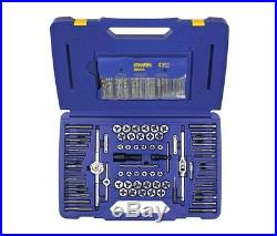 IRWIN 117-Piece Metric and Standard (SAE) Tap and Die Set High Carbon Steel Tool