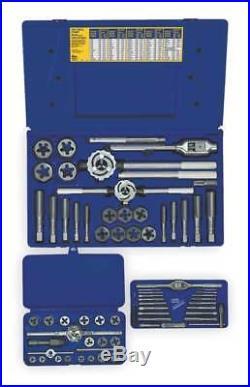 IRWIN HANSON 97606 Tap and Die Set, 66 pc, High Carbon Steel